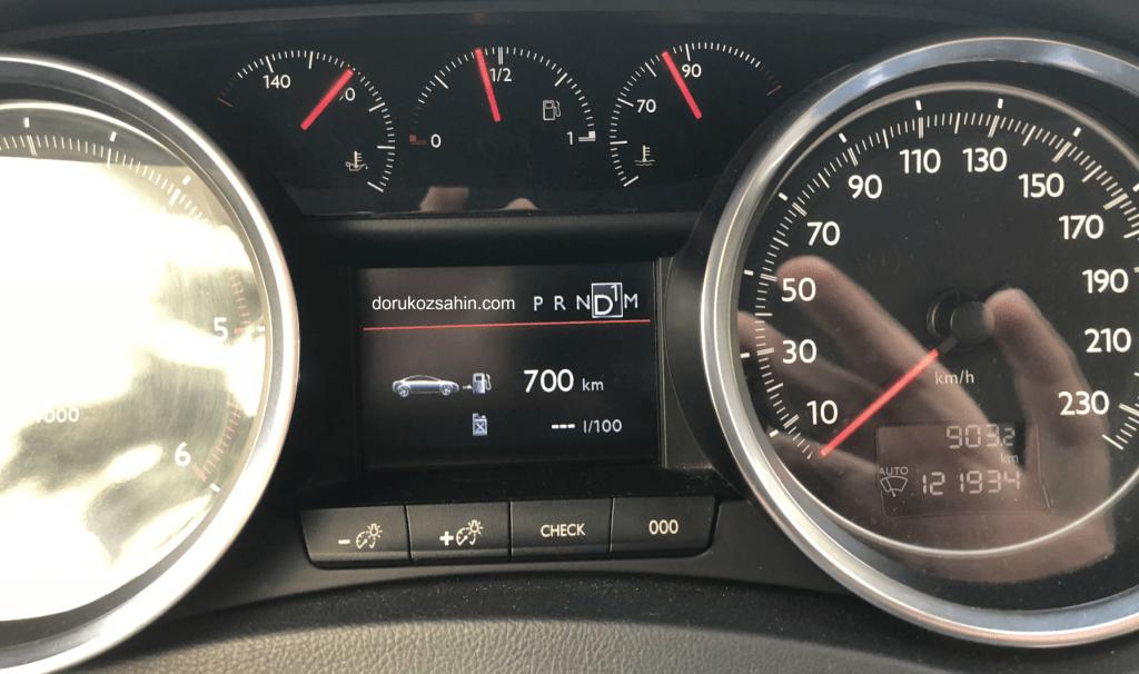 peugeot 508 2.0 HDi uzun yol yakıt tüketimi