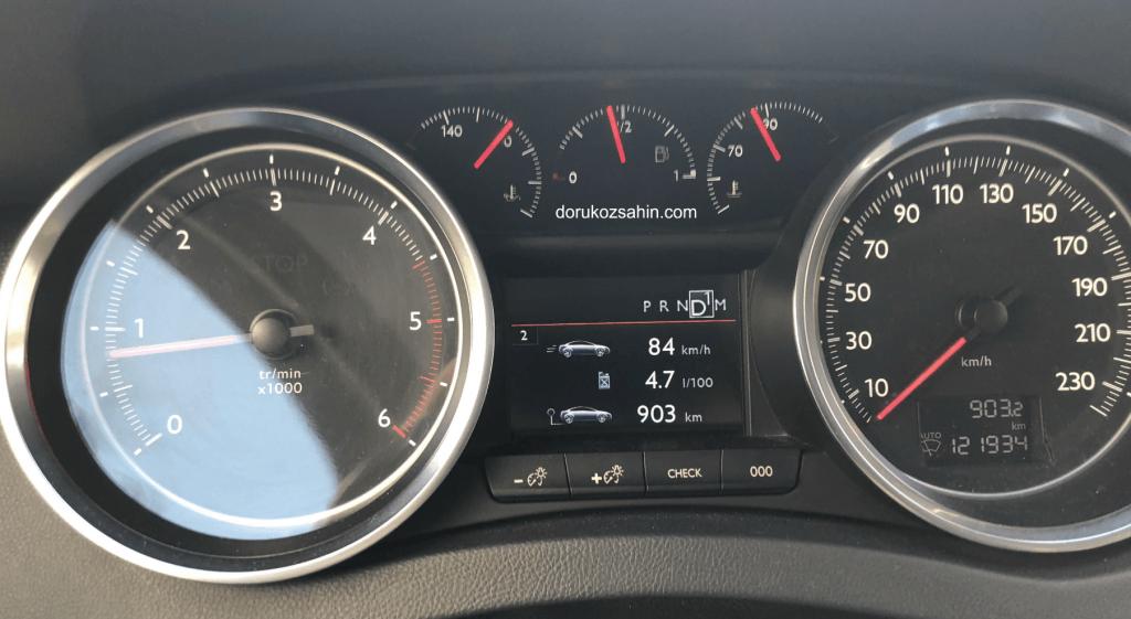peugeot 508 uzun yol yakıt tüketimi